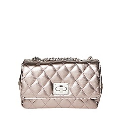 Dorothy Perkins - Tallic large quilt clutch bag