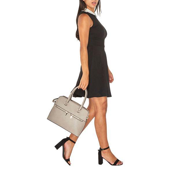 zip Dorothy Grey double Perkins handbag x6nRwTXn