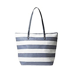 Dorothy Perkins - Navy and white striped beach shopper bag