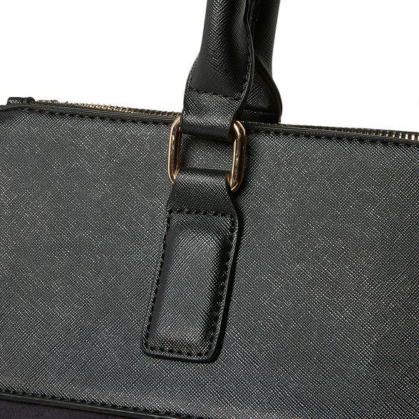 zip double tote Perkins Dorothy Black bag oversize tEFgawq