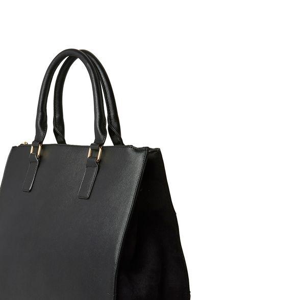 oversize tote double Tan bag zip Dorothy Perkins XIzqFF