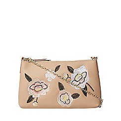 Dorothy Perkins - Neutral embroidered cross body bag