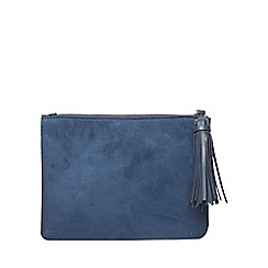 Dorothy Perkins - Navy tassel clutch bag