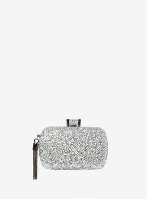 Dorothy Perkins   Silver Glitter Box Clutch Bag by Dorothy Perkins