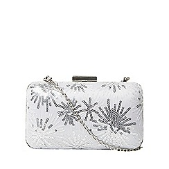 Dorothy Perkins - Silver sequin lace box clutch bag