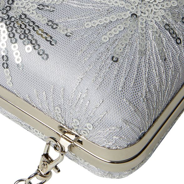clutch Dorothy sequin Silver Perkins lace bag box UgpvqPg
