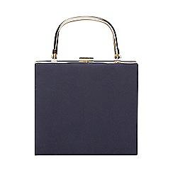 Dorothy Perkins - Navy frame top handle clutch bag