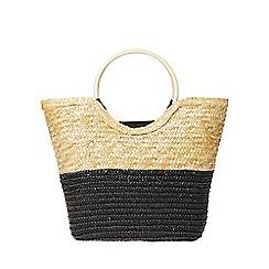 Dorothy Perkins - Multi coloured wooden hoop handle beach bag