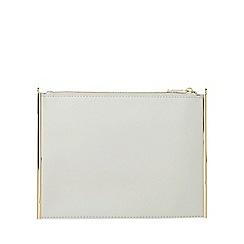 Dorothy Perkins - White side bar clutch bag