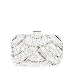 Dorothy Perkins - Ivory pearl box clutch bag