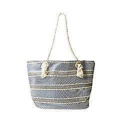Dorothy Perkins - Navy rope shopper bag