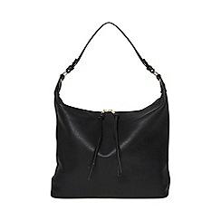 Dorothy Perkins - Black double zip hobo bag