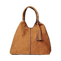 Dorothy Perkins - Tan unstructured hobo bag