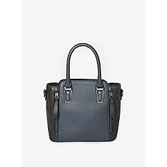 Dorothy Perkins - Navy and black hardware mini tote bag