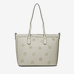 Dorothy Perkins Grey Laser Cut Detail Per Bag