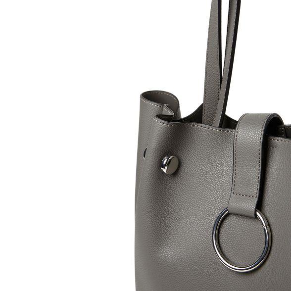 Dorothy Grey metal tote Perkins bag hoop rrPqAwx