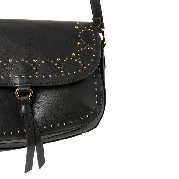 bag body Perkins Black cross Dorothy studded saddle Rq1pPYw