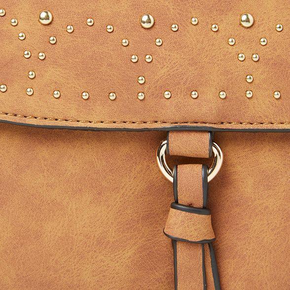 bag Tan Dorothy saddle studded Perkins body cross f55qYwr
