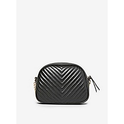 Dorothy Perkins - Black quilted chain cross body bag