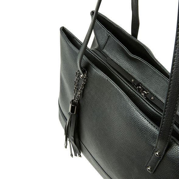 bag panel tote Black tassel Perkins Dorothy wqv166TW