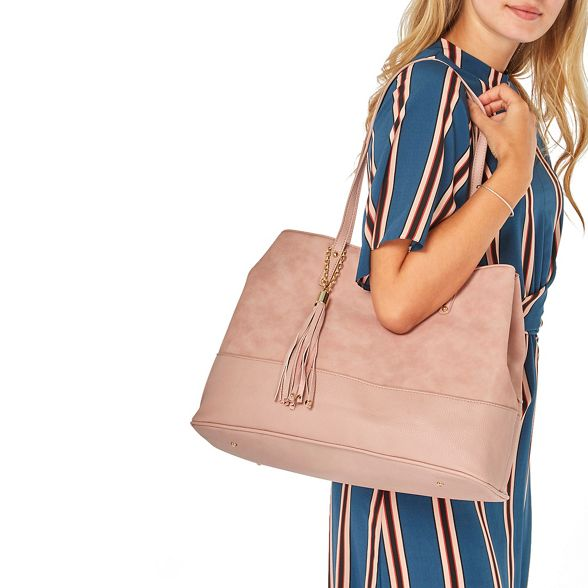 Dorothy panel bag tassel Blush tote Perkins AqgHAFRnW