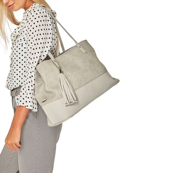 tassel tote Grey Perkins Dorothy bag panel qCZzIEw