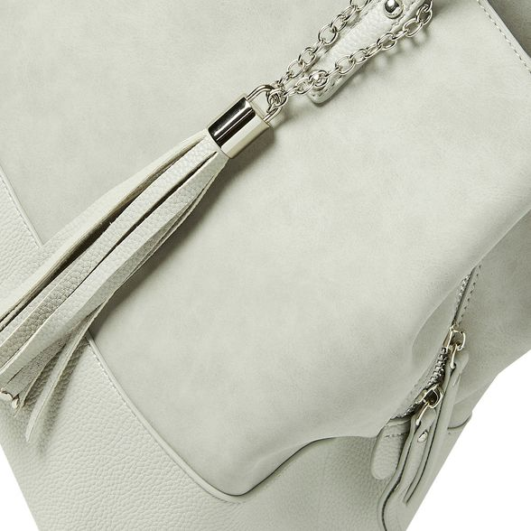 tote panel bag Grey Perkins tassel Dorothy pxSZqTawS