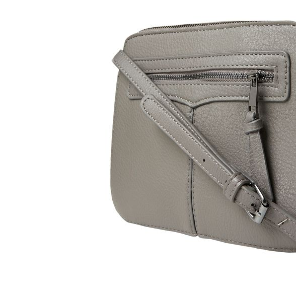 cross zip body camera Dorothy bag Grey front Perkins FqO1TBw6