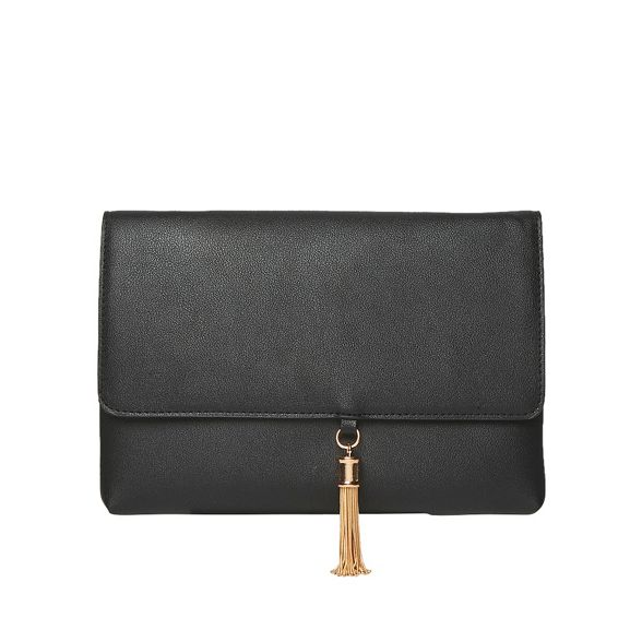 Dorothy clutch Black tassel metal Perkins 7qwZn0r7