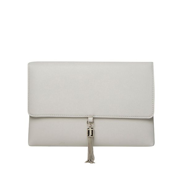 metal clutch Perkins Dorothy Grey tassel SqwHxPE
