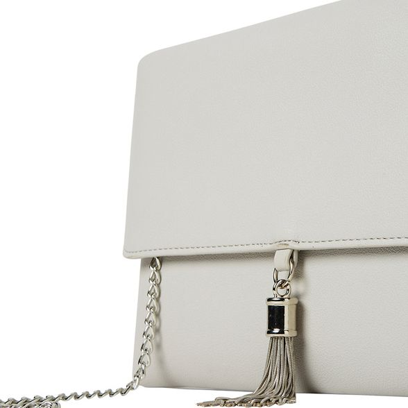 Grey tassel clutch metal Perkins Dorothy 0Bwq5Hvx