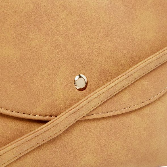 Dorothy Perkins pouch Tan bag body stud cross curve PRaPrO