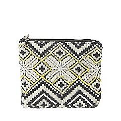 Dorothy Perkins - Monochrome beaded aztec purse