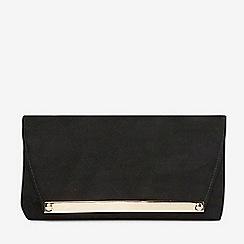 Dorothy Perkins - Black envelope clutch bag