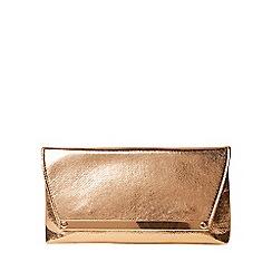 Dorothy Perkins - Rose gold metal bar clutch bag
