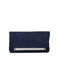 Dorothy Perkins - Navy metal bar envelope clutch bag