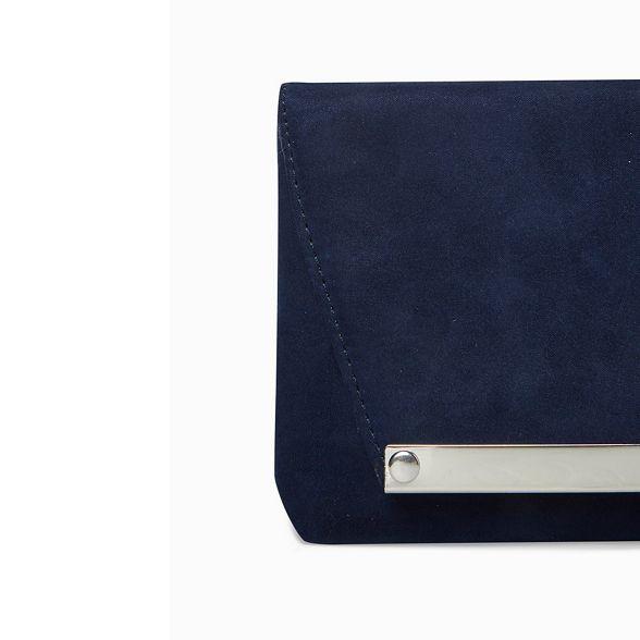 Perkins Navy Dorothy clutch bag envelope metal bar qUdvwxF5d