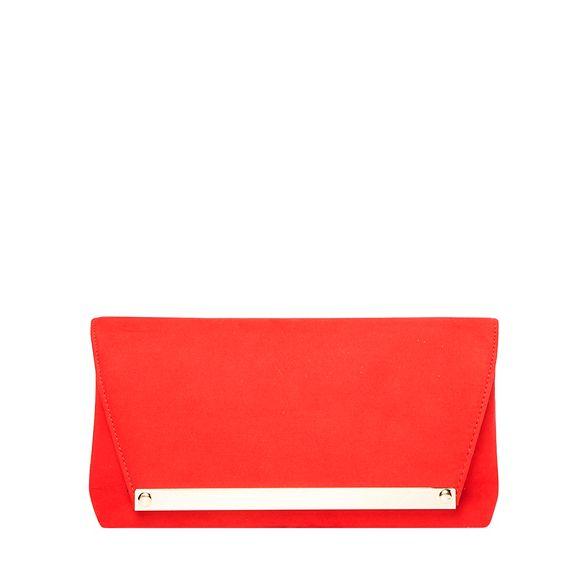 Dorothy envelope clutch bag metal Red Perkins bar nxnpRT