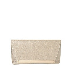 Dorothy Perkins - Gold metal bar envelope clutch bag