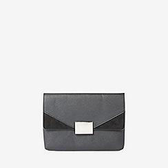 Dorothy Perkins - Grey hardware clutch bag