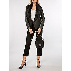 Dorothy Perkins - Black embellished buckle cross body bag