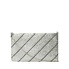 Dorothy Perkins - Silver and pewter chainmail clutch bag