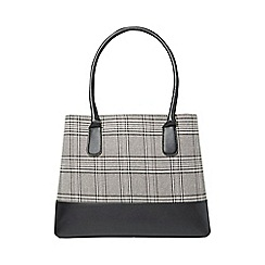 Dorothy Perkins - Check panel double zip tote bag