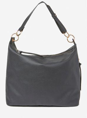 36177a9ec305 Dorothy Perkins Black double ring hobo bag