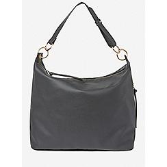 Dorothy Perkins - Black double ring hobo bag