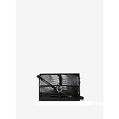 Dorothy Perkins - Black ring detail clutch