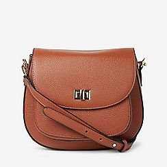 Dorothy Perkins Tan Pocket Front Saddle Crossbody Bag