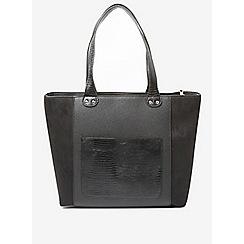 Dorothy Perkins - Black pocket zip side shopper bag