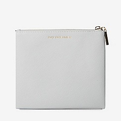 Dorothy Perkins - Grey slogan zipped top pouch