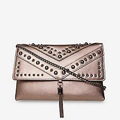 Dorothy Perkins Pewter Studded Tassel Clutch Bag